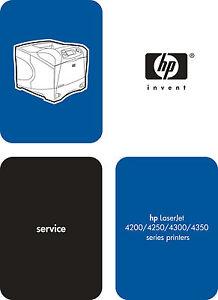 hp laserjet 4200 4250 4300 4350 series service manual parts rh ebay com HP 4100N hp 4200 service manual