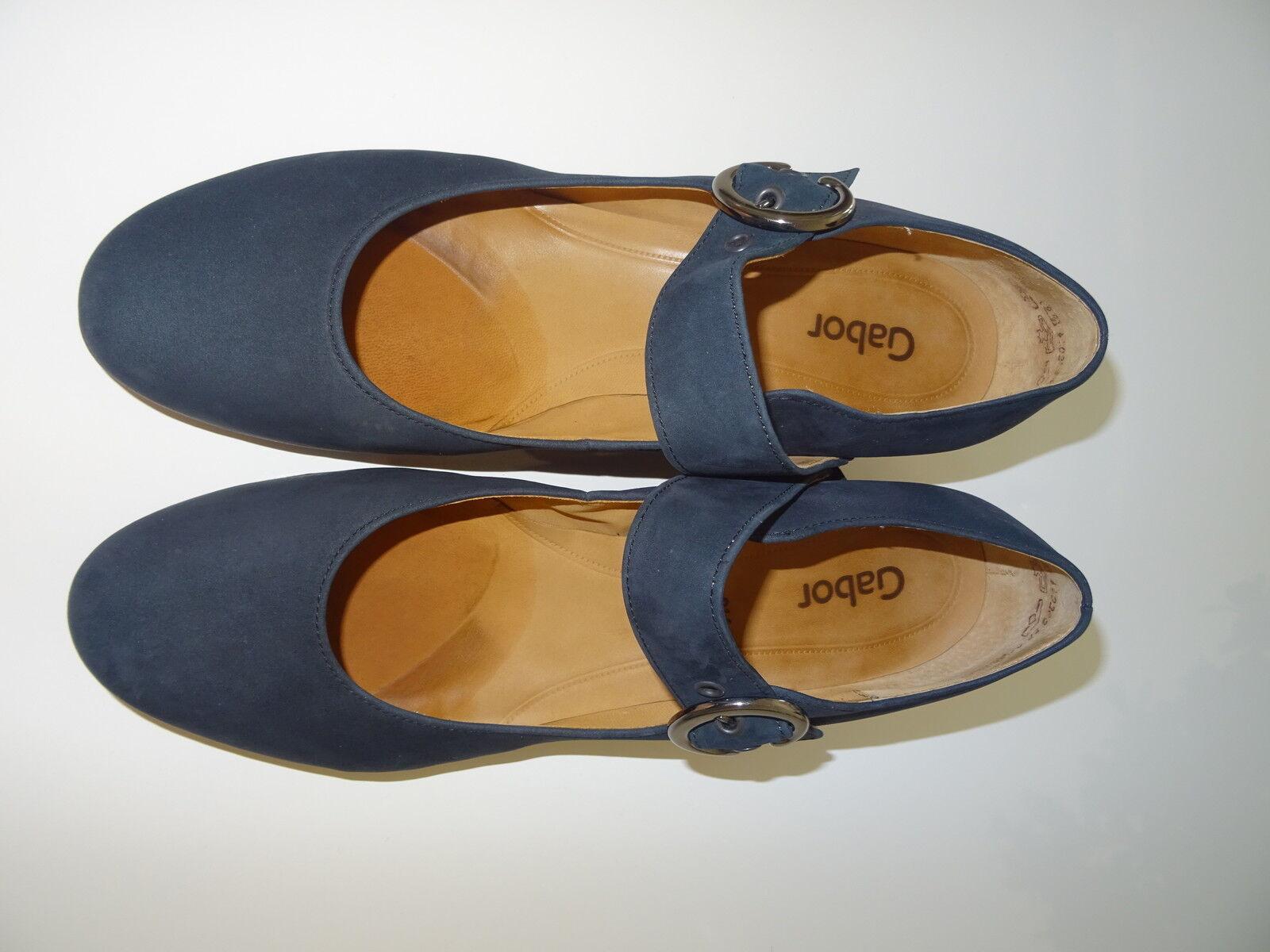 Gabor 9,5 43,5 Halbschuhe Blaue Ballerinas Schuhe Halbschuhe 43,5 Damen 089d37