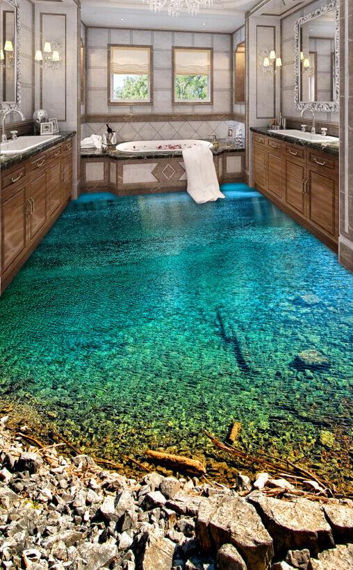 3D Acqua Limpida 405 Pavimento Foto Wallpaper Murales Muro Stampa Decalcomania