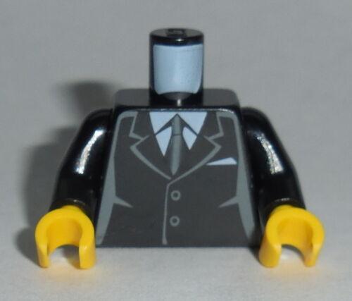 TORSO M050 Lego Male Black Suit 2 buttons White shirt NEW Genuine Lego Wedding