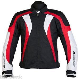 Spada-RPM-Motorcycle-JACKET-Waterproof-Textile-Motorbike-Black-red