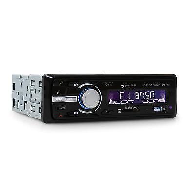 AUTORADIO AUNA MD-120.2WH - USB SD AUX 4X75W LINE-OUT TUNER FM AM LED - NOIR