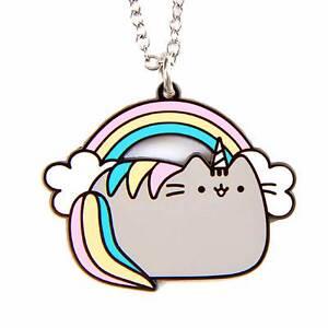 La Imagen Se Está Cargando Pusheen El Gato Collar Joyeria Pusheenicorn Cat  Unicornio