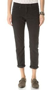 AG Adriano Goldschmied Black The Beau Slouchy Skinny Faded Corduroy Pants 23