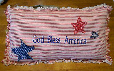 Primitive Decor GOD BLESS AMERICA Shelfsitter,Tuck,Americana,Country,Folk Art