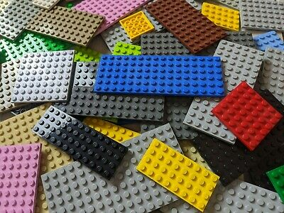 Lego Lot of 1 Pound Mixed Color 2x4 Plates
