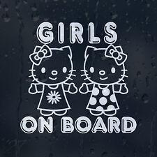 Girls On Board Funny Little Babys Car Window Or Bumper Decal Vinyl Sticker