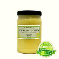 Golden Cocoa Butter Pure&organic Prime Pressed Unrefined Food Grade Choose Size