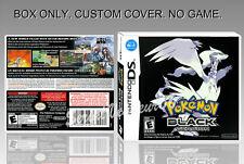 NINTENDO DS : POKEMON BLACK VERSION. FR/ENGLISH. COVER + ORIGINAL BOX. (NO GAME)