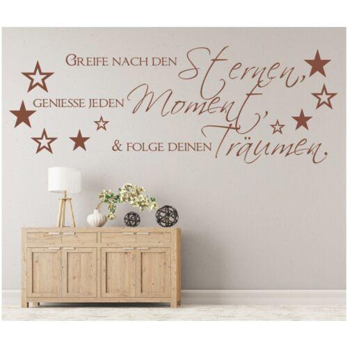 Spruch WANDTATTOO Sterne Moment Träume Wandsticker Wandaufkleber Sticker 2