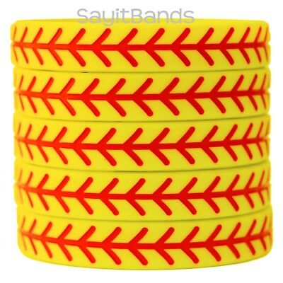 5 FOOTBALL Wristbands Silicone Bracelets Debossed Quality Wrist Bands