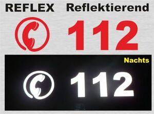 112, reflektierender Aufkleber