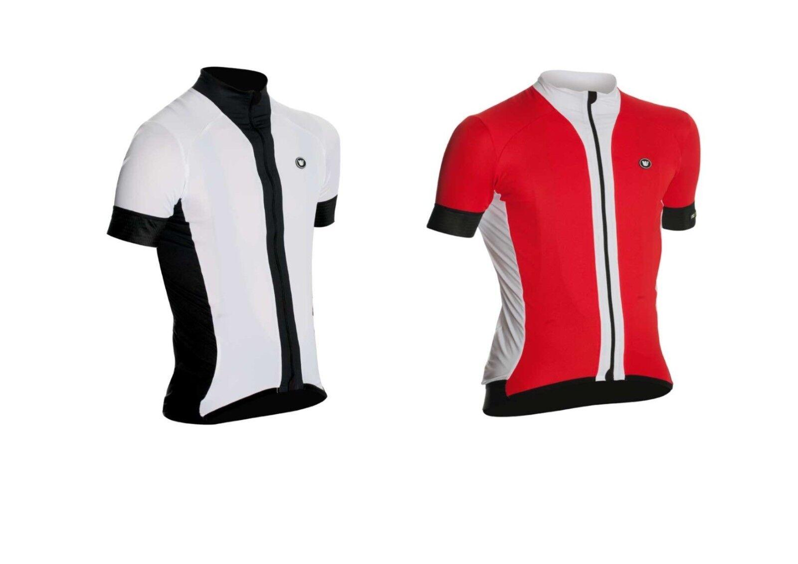 Vermarc Para hombres Mangas Cortas PRIMA Ciclismo Camiseta  rojo y blancoo L-XXL  compras online de deportes