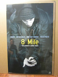 Vintage 8 Mile Eminem movie poster Rap old school 1005 | eBay