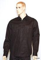 Guess Cotton Long Sleeve Shirt Top Black Xl