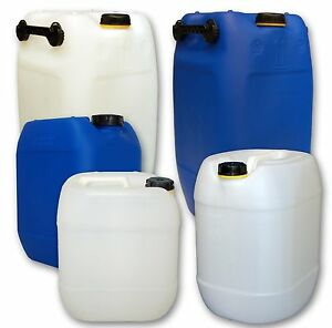 kanister 5 10 20 25 30 60 liter wasserkanister beh lter trinkwasser neu ebay. Black Bedroom Furniture Sets. Home Design Ideas