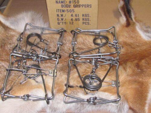 4 Bridger 150 Magnum Body Grippers Traps 505  Muskrat  Mink Fisher