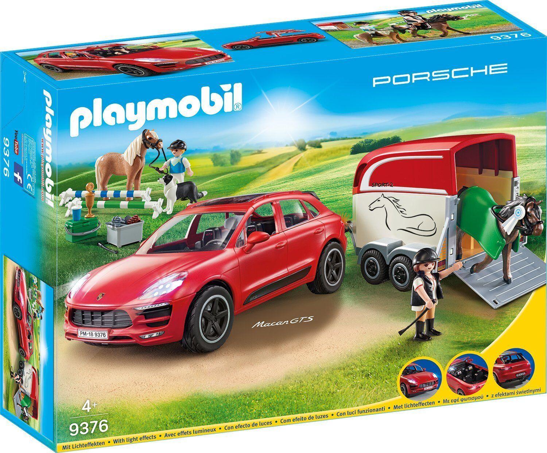 Playmobil 9376 PORSCHE Macan GTS avec chevaux Remorque Nouveauté 2018 neuf dans sa boîte,