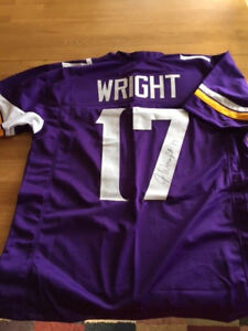 official photos 855d8 ec2b4 Details about Vikings Jarius Wright signed Jersey w/COA