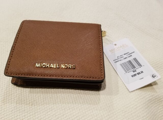 415130e88712 NWT Michael Kors Jet Set Travel Carryall Card Case in Signature Luggage