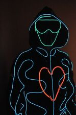 LED (electroluminescent ) Robot Costume Night Clubs Parties Rave EDM Halloween