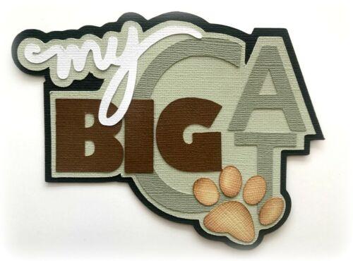 MY BIG CAT TITLE PREMADE PAPER PIECING PIECE 3D DIE CUT MYTB  KIRA