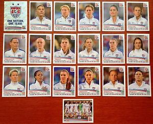 SET 2015 USA Soccer Panini Stickers Womens World Cup ALL 19 DIF Incl ALEX MORGAN