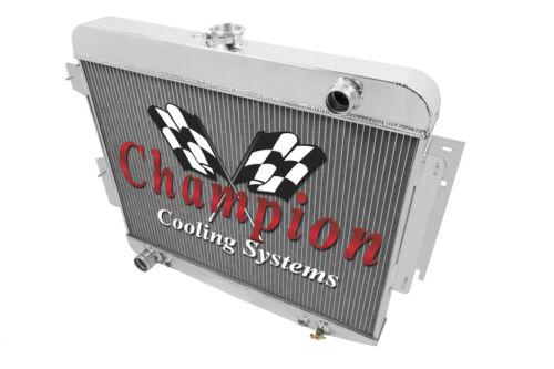 "3 Row Rel Radiator W// 2 12/"" Fans for 1966-1969 Dodge Charger Big Block V8 Eng"