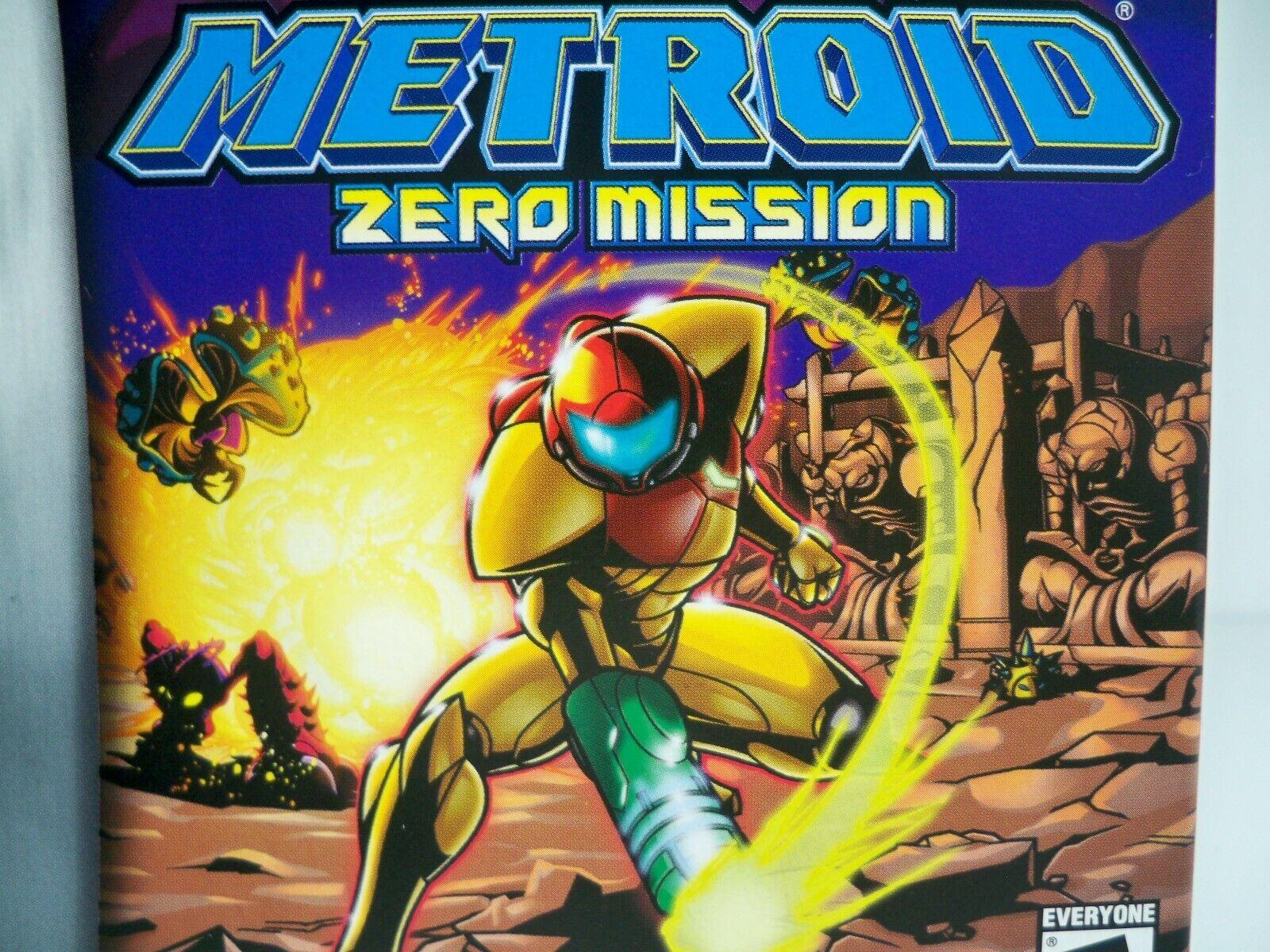 K1907251 METROID ZERO MISSION NEAR MINT IN BOX GAMEBOY ADVANCE GBA ORIGINAL