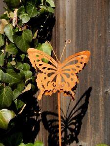 Schmetterling-Rost-15x13-Beetstecker-Dekostab-Deko-Rost-Edelrost-Blumenstab
