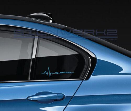 Quattro heartbeat pulse Sticker left EURO Racing A4 S4 S3 TT R8 A6 Q5 Q7 Pair