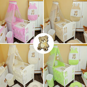 baby bettw sche himmel nestchen bettset mit applikation b r decke 100x135 cm neu ebay. Black Bedroom Furniture Sets. Home Design Ideas