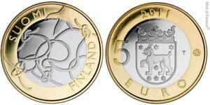 Finlande 5 euro 2011 - Province Tavastia UNC