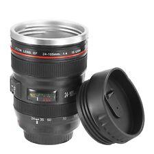 2pcs Camera Lens Cup 24-105 Coffee Travel Mug Stainless Steel Leak-Proof
