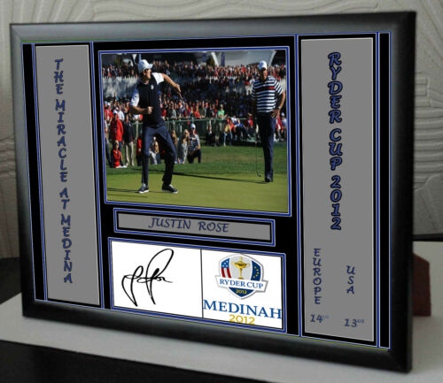 JUSTIN ROSE SIGNED Framed Canvas Portrait Signed