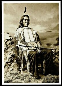 957-Postcard-Red-Cloud-Oglala-Sioux-Chief-Charles-Bell-1880-Photo-NEW