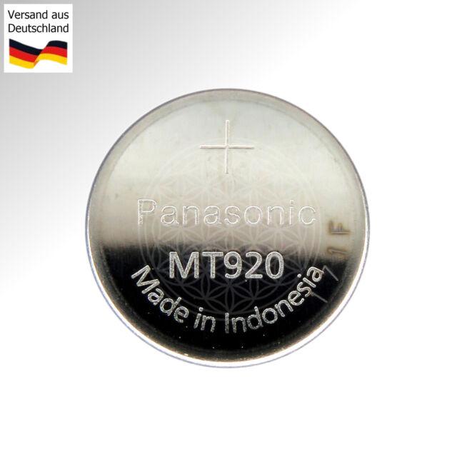 Panasonic MT 920 LI-ION Condensador Batería GC920 N923 para Junghans Solar Reloj