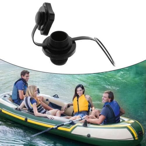 Plastic 22mm Screw Air Valve Caps for Inflatable Boat Kayak Raft Canoe Black