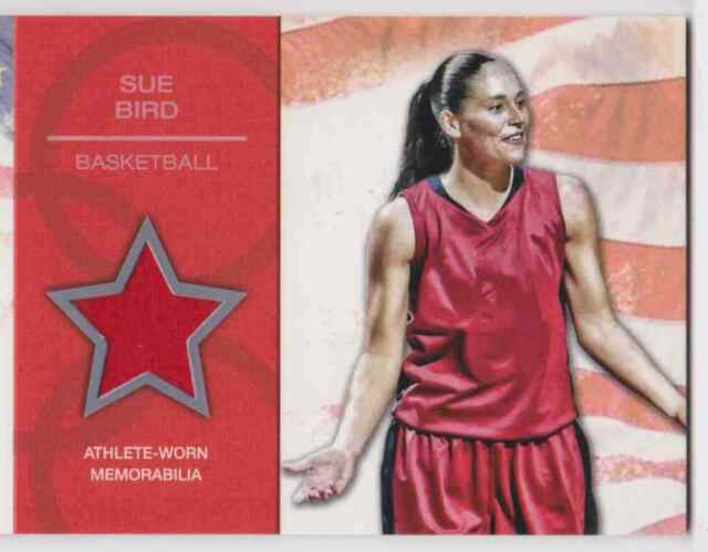2012 TOPPS U.S. OLYMPIC TEAM RELIC SUE BIRD ATHLETE-WORN BASKETBALL #OR-SB