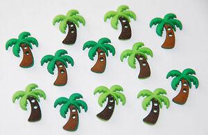 Dress It Up SEW CUTE PALM TREE 6935 Sew Craft Beach Jesse James Buttons
