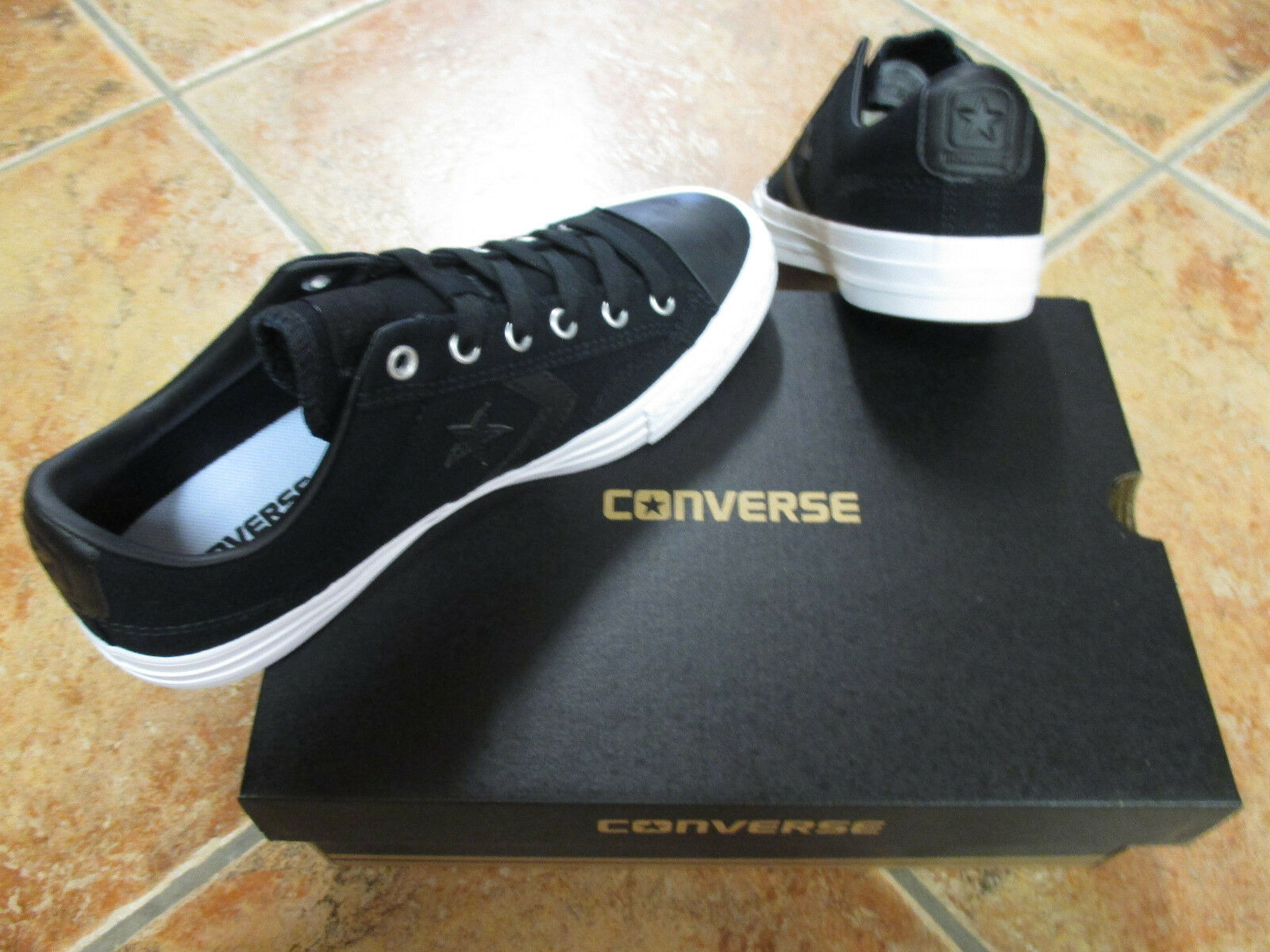 Converse OX Chuck All Star Player OX Converse Gr 46  Black Black White 157761C NEU f45779