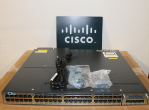 Cisco-WS-C3750X-48PF-S-48-Port-Gigabit-IP-Base-Switch-w-2x-C3KX-PWR-1100WAC