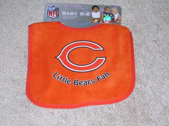 Fantastic Chicago Bears Team Logo Colors Two Toned Snap Baby Bib Ocoug Best Dining Table And Chair Ideas Images Ocougorg