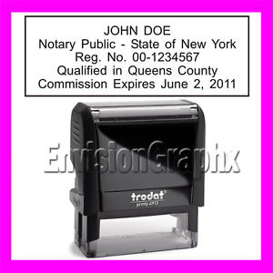 Custom-Official-NOTARY-PUBLIC-NEW-YORK-Self-Inking-Rubber-Stamp-T4913-black