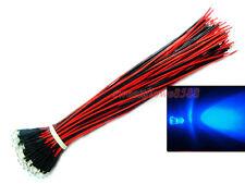 100PCS 12V DC Wired 3mm Blue LED for CAR,Boat,RC,DIY