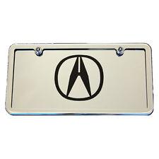 Acura ILX RLX RL TLX TL NSX TSX MDX RDX Chrome License Plate Vanity Tag & Frame