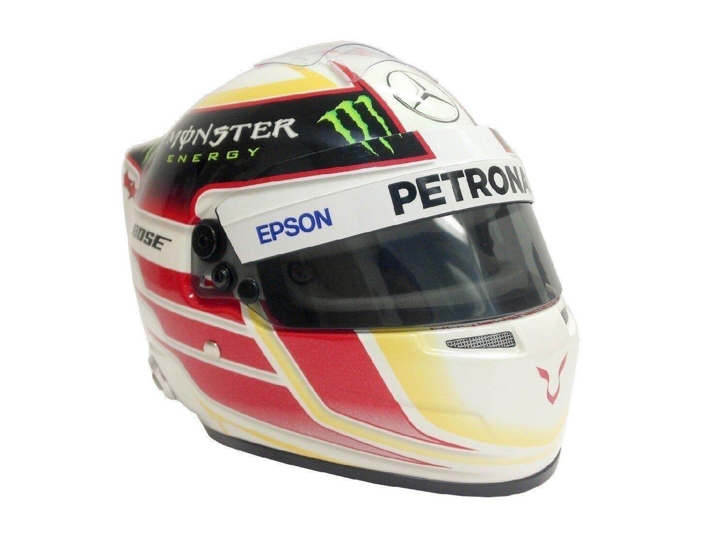 Casco medio 1 2 1 2 escala Hamilton Mercedes AMG Petronas F1 de Fórmula Uno Equipo Nuevo
