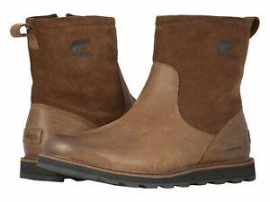 Sorel-Madson-Zip-Waterproof-Tobacco-Black-Men-039-s-Boot-Shoes
