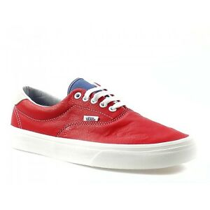 219af91c21 NEW AUTHENTIC VANS ERA 59 VINTAGE SPORT RACING RED WHITE MENS 7.5 ...