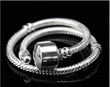 "5pcs A+ Silver Snake Chains for European Charms Bracelet 8.5"""